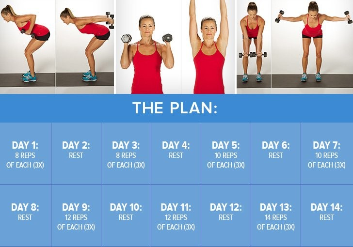 dumb bells 3-Week-Plan